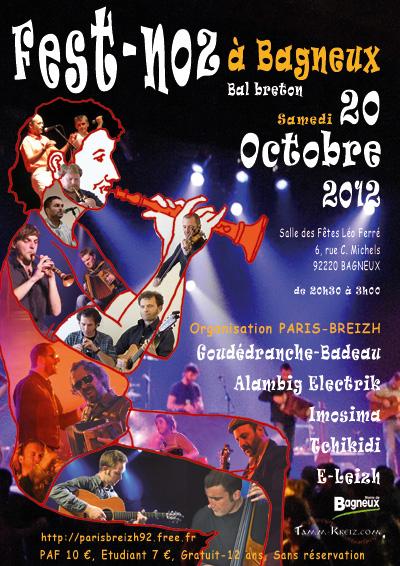 Fest-noz de Bagneux (92) / Association Paris-Breizh samedi 20 octobre 2012