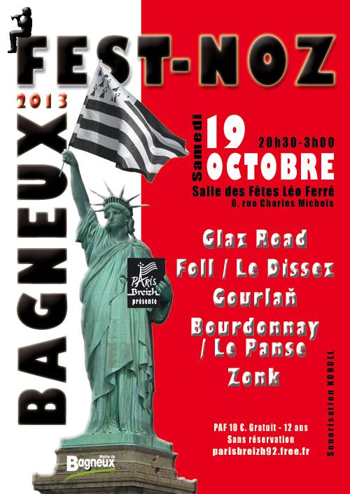 Affiche Fest-noz 6ème fest-noz de Bagneux à Bagneux
